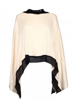 Monochrome Poncho by Ann Demeulemeester