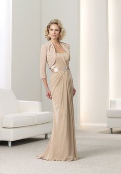 champagne mother of bride outfit | Home > Mother of the bride > Chiffon Strapless Sweetheart Elegant ...