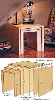 Nesting Table Plans - Furniture Plans and Projects | WoodArchivist.com