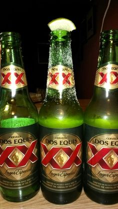 Dos Equis beer I Like Beer, More Beer, Wine And Beer, Mexican Beer, Mexican Drinks, Refreshing Drinks, Fun Drinks, Alcoholic Drinks, Beer Commercials