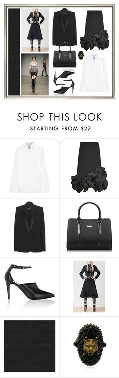 """""""Black Ruffle"""" by cherieaustin ❤ liked on Polyvore featuring Victoria, Victoria Beckham, Tom Ford, Pierre Hardy, FAUSTO PUGLISI, NLXL and Gucci"""