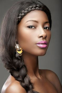Natural look with a splash of lip color. Great spring and summer look.