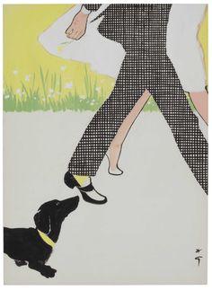 RENE GRUAU (1909-2004) Christie's René Gruau: Master of Fashion Illustration // COVER ILLUSTRATION FOR 'INTERNATIONAL TEXTILES', 1956