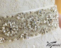 Bridal sash rhinestones and pearl sash wedding sash by VioGemini, $199.99