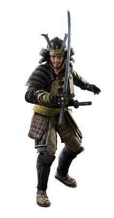 A samurai warrior ready for combat. Japanese Warrior, Japanese Sword, Total War Shogun 2, The Last Samurai, Samurai Artwork, Ghost Of Tsushima, Armadura Medieval, By Any Means Necessary, Shadow Warrior