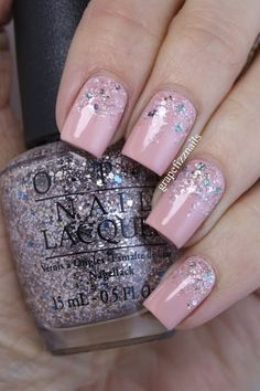 OPI You're Blushing Again with NOPI Shaved Nice