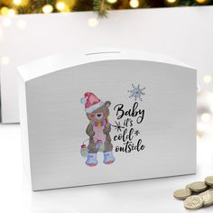 Shop Now!  http://www.blueponystyle.com/products/baby-its-cold-outside-white-money-box?utm_campaign=social_autopilot&utm_source=pin&utm_medium=pin   #etsymntt #EtsySocial #ESLiving #ebay #toys #EpicOnEtsy #etsyretwt #gift #xmas