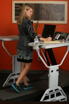 TrekDesk.  Work AND Workout.  Could there be anything better for #fitness and #productivity See this #walking desk http://www.developgoodhabits.com/trekdeskwalking