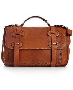 Patricia Nash Handbag, Cadiz Washed Leather Studded Large Flap Bag
