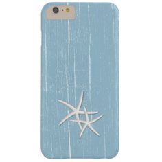Rustic Starfish Mint Blue Beach Theme Barely There iPhone 6 Plus Case