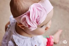 knit jersey flower headband