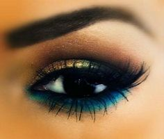 Smokey gold & blue underneath