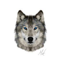 Wolf Face by Mikstyx.deviantart.com on @DeviantArt