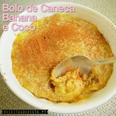 Bolo de Caneca Banana e Coco sem Açúcar