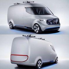 Mercedes-Benz Vision Van Concept #cardesign #mercedes #mercedesbenz #conceptcar #van #future