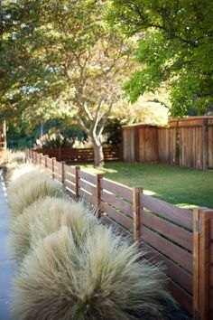 Radiant Front yard fence styles,Garden fence ideas and Wooden fence sections. Backyard Fences, Fenced In Yard, Front Yard Landscaping, Garden Fencing, Landscaping Ideas, Backyard Privacy, Front Yard Fence Ideas Curb Appeal, Back Yard Fence Ideas, Outdoor Fencing