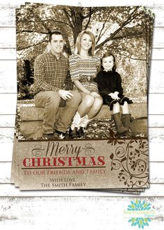 Country Christmas - A Photo Christmas Card by ImpressionsPaperie on Etsy, $15.00