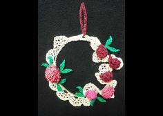 ghirlanda fiorita con roselline - christmas decoration flowers