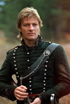 Sean Bean as rifleman Richard Sharpe. Let us reflect that Sharpe may be the only action character portrayed by Sean Bean who has not been killed. The universe may have it out for Sean Bean's characters, but it can't take down rifleman Sharpe. Gorgeous Men, Beautiful People, Look At My, Hommes Sexy, Jane Eyre, Raining Men, British Actors, British Artists, Sean Connery