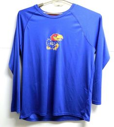 e317f053bfa Mens Champion KU Kansas Jayhawks Long Sleeve Athletic Shirt Size XL