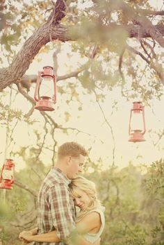 Hanging lanterns! This would be another great separate set up