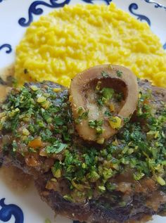 Rasol de mânzat în sos, cu garnitură de risotto cu șofran (Ossobuco alla milanese). – Chef la mine acasa