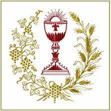 Diseños de bordado Cáliz de la guirnalda