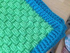 Ravelry: KierraElizabeth's Basket Weave Afghan Baby Blanket