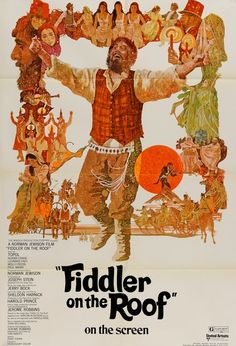 Fiddler on the Roof (1971) Original One-Sheet Movie Poster