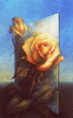 """Reflection 1"" oil on canvas, 100x65cm, by Anna Ravliuc"