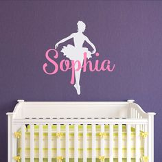 Ballerina Wall Decals Girls Name Personalized by FabWallDecals