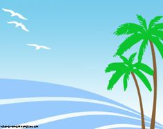 Free travel PowerPoint template with island picture, beach and palms ...
