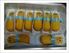 """For the Baby Shower-Cute little """"baby"""" twinkies with a bottle and pacifier!"""