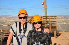 Toni and Joe at the zip line