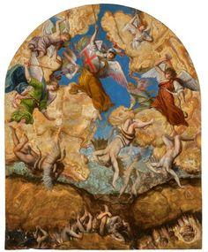 Orazio Gentileschi (Pisa 1563 - London The Fall of the Rebel Angels. 19 by 15 in. Fine Art Prints, Framed Prints, Poster Prints, Canvas Prints, Orazio Gentileschi, Angel Rebelde, Italian Painters, Italian Art, Triptych