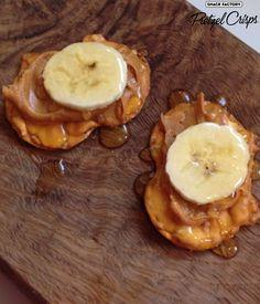 Original Pretzel Crisps with banana, honey and peanut butter #sweet