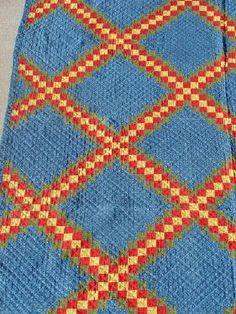 Triple Irish chain quilt, 1910