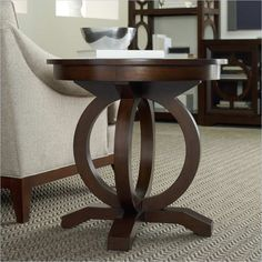 Kinsey Round End Table in Walnut - 5066-80116