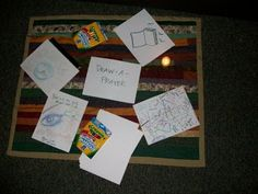 Prayer Station-DRAW-A-PRAYER:   The simplest of prayer stations. Simply set out paper, markers, and crayons and invite participants to express their prayers through the created image.