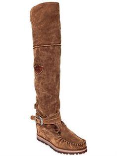 el vaquero - women - boots - 70mm warden suede tall wedge boots Wedge Boots, Riding Boots, Fall Winter, Wedges, Shoes, Women, Fashion, Cowboys, Horse Riding Boots