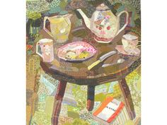 Tea in the Garden by Edrica Huws