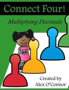 FREE Connect Four: Multiplying Decimals math game for upper grades! Includes six game boards and 16 playing cards. Fun way for students to practice multiplying decimals in a small group/partner activity. Great to use in math workshop! Multiplying Decimals, Simplifying Fractions, Math Fractions, Dividing Fractions, Percents, Decimal Multiplication, Free Math Games, Fun Math, 8th Grade Math
