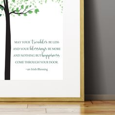 A collection of several Irish proverbs and blessings designed into beautiful high quality prints to help you decorate your irish home, celebrate your love of the Irish culture or simply decorate for Saint Patrick's Day. These also make wonderful house warming gifts. Prices start at just $10. Our printing process offers high quality vibrant eco-friendly inks on thick cardstock poster paper. Satisfaction Guaranteed.   #irishdecor #irish #irishblessings #irishproverbs #saintpatricksday…