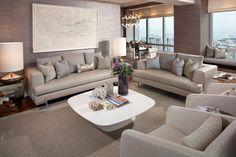 Four Seasons Residence -- San Francisco - contemporary - Living Room - San Francisco - Green Couch Interior Design