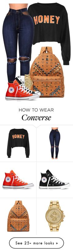 """""""I'm feeling like I'm bout' to lose you"""" by mindlesspolyvore on Polyvore featuring WithChic, MCM, Casetify and Converse"""
