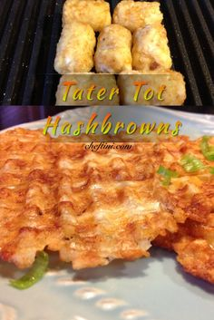 These Tater Tot Hash browns are so much fun to make! Use your Panini press or even waffle maker and voila - hash browns!