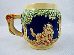 Vintage German Wick Werke Coffee Cup Beverage Mug Hunter Theme Collectible NICE!