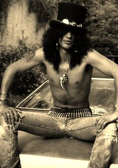 slash, not the best looking guy, but inspired me to start playing guitar:)