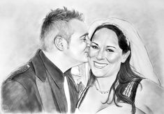 Custom sketch portrait, Drawing from photo, Family portrait Charcoal Best Portraits, Portraits From Photos, Couple Portraits, Personalized Couple Gifts, Customized Gifts, Traditional Anniversary Gifts, Charcoal Portraits, Photo Work, Anniversary Gifts For Husband