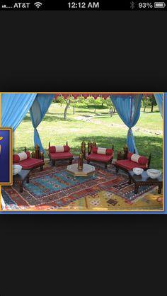 Moroccan outdoor space